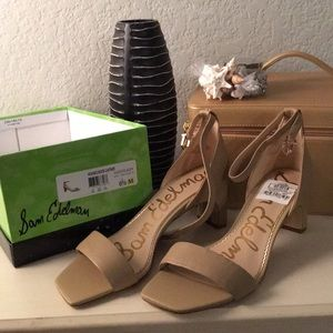 Sam Edelman Holmes nude a leather shoes